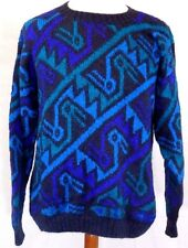 Rare Vintage Peruvian Connection 100% ALPACA Mens MEDIUM(M) ABSTRACT Sweater