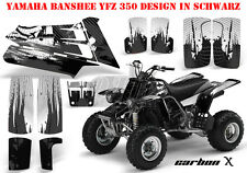 AMR RACING DEKOR GRAPHIC KIT ATV YAMAHA BANSHEE YFZ 350 CARBON-X B