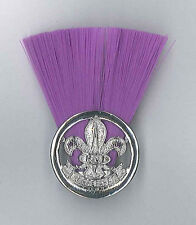 SCOUTS OF FIJI - SCOUT COMMISSIONER (PURPLE COLOUR) Metal Plume / Hat Patch