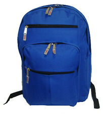Wholesale Case Lot 24 Multi pockets Backpack Book Bag Day Pack, LM199, Blue