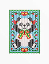 CHRISTMAS PANDA~PONY BEAD BANNER PATTERN ONLY