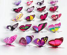 7cm 3D Butterflies Artificial Magnetic Fake Decorative Party Wedding 12pcs/lot