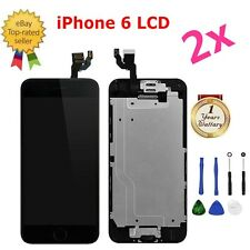 "2x iPhone 6 4.7"" Replacement Digitizer LCD Touch Screen & Home Button Camera"