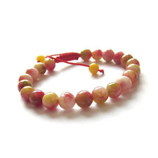 Pink Jade Tibet Buddhist Prayer Beads Mala Bracelet