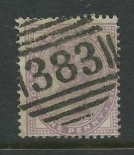 GB QV 1881 PENNY LILAC FU 14 DOT DIE 1...FINE UPRIGHT NUMERAL 383 of HULL