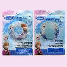 Disney Frozen Kids Girls Water Swimming Swim Ring Tube + Beach Ball Toy NEW 3+