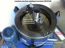 Centrifugal Gold concentrator  Continuos Discharge and Batch 2in1 CVD-FB300