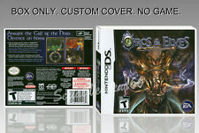 NINTENDO DS : ORC AND ELVES. FR/ENGLISH. COVER CUSTOM + ORIGINAL BOX. (NO GAME)