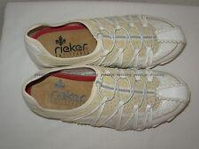 Baskets RIEKER cuir blanc 37