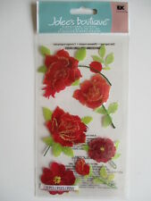 Jolee's boutique 3D autocollants-coloré roses