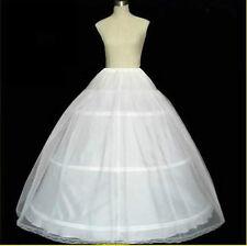 White Petticoat Wedding Gown Crinoline Petticoat Skirt Slip /3-HOOP