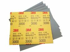 "Genuine 3M WET OR DRY 3000 GRIT sandpaper 9"" x 11"" - 5 sheets (401Q)"