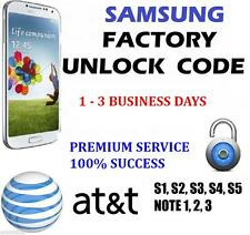PREMIUM Samsung Galaxy S2 S3 S4 S5 -AT&T FACTORY UNLOCK CODE 100% GUARANTEE FAST