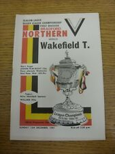 13/12/1981 Rugby League Programme: Bradford Northern v Wakefield Trinity  . Than
