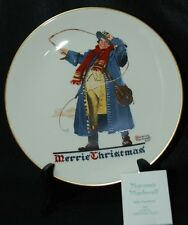 "NORMAN ROCKWELL ""JOLLY COACHMAN"" 1982  GORHAM CHRISTMAS PLATE"