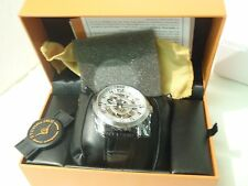 DELPHI ORACLE MEN S WATCH  SILVERTONE BLACK BAND  GP10947