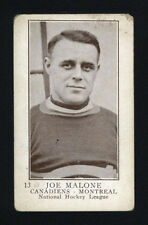 "1923-24 V145-1 WILLIAM PATERSON ~ #13 ~ JOE ""PHANTOM JOE"" MALONE ~ HALL OF FAME"