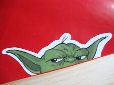 2  YODA STAR WARS  PEEPERS  CAR WINDOW STICKERS  DECALS RATLOOK QUALITY