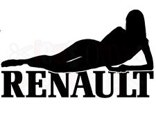 LARGE car bonnet renault sexy girl vinyl car sticker fun decal graphics side fun
