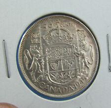 Canada 1945 50 cents silver high grade circulated XF +