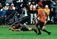 Zinzan BROOKE Signed Autograph New Zealand All Blacks RUGBY Photo E AFTAL COA