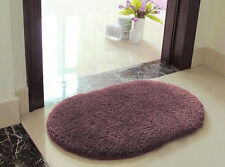Grayish Purple Bathroom Rug Non Slip Bath Mat Room Floor Cover Shower Carpet