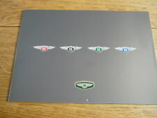 BENTLEY CONTINENTAL SC, T, R, & AZURE CAR BROCHURE 1988