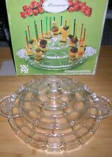 WMF Crystal Glass Moosrose Kasepyramide 0967992600 Party Cheese Server Stand