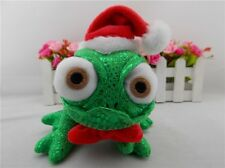 8'' Disney Tangled Rapunzel Pascal Green Chameleon with Chirstmas Hat Plush Toy