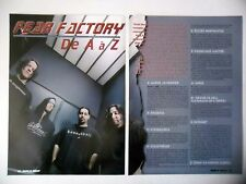 COUPURE DE PRESSE-CLIPPING :  FEAR FACTORY [4pages] 01/2002 Burton C.Bell,Dino