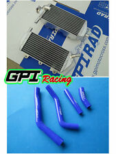 ALUMINUM RADIATOR and BLUE hose FOR YAMAHA YZ450F YZF450 YZ 450F 2010-2013 2012