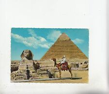 BF27056 the great sphinx of giza and kehfren pyramid  egypt front/back image