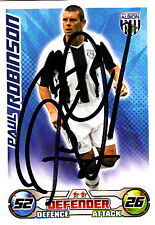 West Bromwic Albion F.C Robinson Hand Signed 08/09 Championship Match Attax.