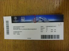 08/12/2015 Ticket: Manchester City v Borussia Monchengladbach [Champions League]