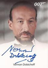 "James Bond 50th Anniversary - Vernon Dobtcheff ""Max Kalba"" Autograph Card"