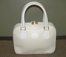 RARE VINTAGE GUCCI OFF WHITE SMALL SATCHEL HANDBAG PURSE   **ADORABLE**