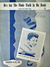 LAURIE LONDON - HE'S GOT THE WHOLE WORLD IN HIS HANDS - SHEET MUSIC - 1957