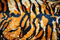 Craft-TIGER ANIMAL PRINT VELOUR-Fabric-Various Lengths-Metres-SEWING BEE
