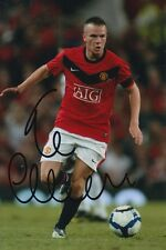 MANCHESTER UNITED HAND SIGNED TOM CLEVERLEY 6X4 PHOTO.