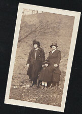 Vintage Antique Photograph Two Women & Little Girl Wearing Cool Outfits