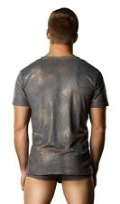 Croc Foil v-Neck Tee Shirt New Adult Mens Clothing Valentine Male Power Small