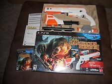 CABELA'S TOP SHOT ELITE HUNTING RIFLE COMPLETE W/ PS3 GAME DANGEROUS HUNTS 2011!