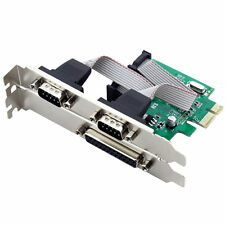 2 Port RS-232 Serial COM & 1 Port Printer Parallel LPT Port to PCI-E Adapter
