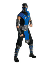 Adulto Std con licencia Mortal Kombat Sub Zero Fancy Dress Costume Para Hombre Caballero