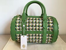 Tory Burch Leather/Canvas Riviera Satchel - New With Tags