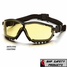 SAFETY GLASS / GOGGLE HYBRID AMBER ANTI-FOG SHOOTING LENS PYRAMEX V2G GB1830ST