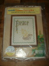 Sunset Linen Sampler Embroidery Kit #1808 Praying Hands NEW