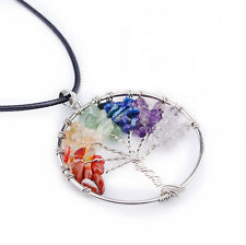Pride Shack - Rainbow Tree of Life Spiritual Pendant LGBT Gay Lesbian Necklace