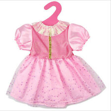 Pink Princess Dress Party Skirt For 18 inch American Girl Doll Clothes Beads