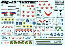 DECAL FOR MIG-29 1/144 PRINT SCALE 144-012